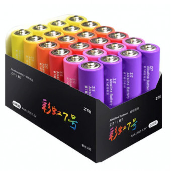 Батарейки Xiaomi ZMI Rainbow ZI7 24шт AAA по отличной цене
