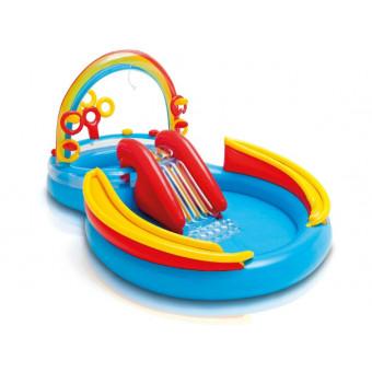 Игровой центр-бассейн Intex с горкой и фонтаном по самой низкой цене