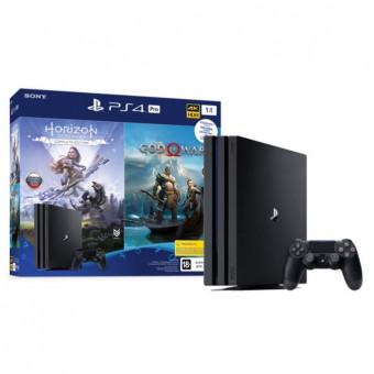 Игровая консоль Sony PlayStation 4 PRo на 1TB + игра Horizon Dawn + игра GOW по самой низкой цене
