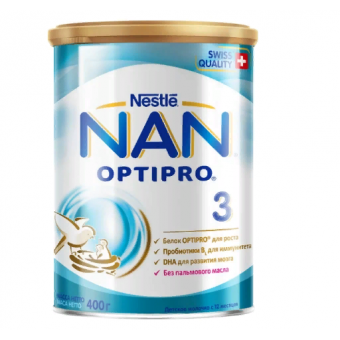 Крутой ценник на смесь NAN (Nestlé) 3 Optipro с 12 месяцев 400 г