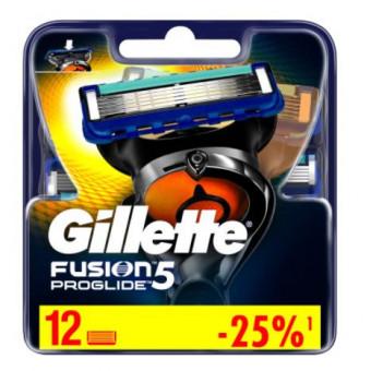 Сменные картриджи для Gillette Fusion ProGlide, 12 шт по низкой стоимости