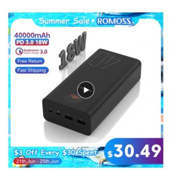 Внешний аккумулятор ROMOSS Zeus 40000 мАч по самой низкой цене