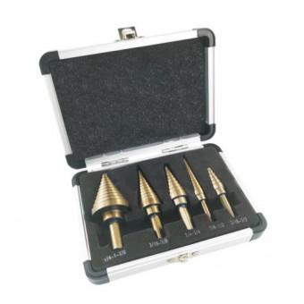 Набор кобальтовых ступенчатых свёрл ALLSOME 5 шт по классной цене
