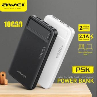 Повербанк AWEI P5K 10000 мАч по крутой цене