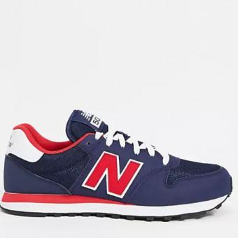 Тёмно-синие классические кроссовки New Balance 500 по хорошей цене