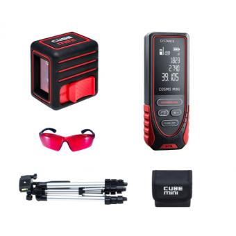 Нивелир CUBE MINI PROFESSIONAL EDITION ADA + лазерный дальномер ADA Cosmo Mini 40 + лазерные очки