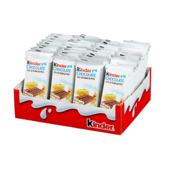 Шоколад Kinder Chocolate молочный со злаками, 23.5 г, 40 шт.