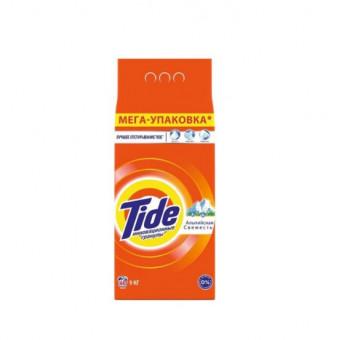 По низкой цене стиральный порошок Tide Автомат Альпийская свежесть 9 кг при покупке 2 om