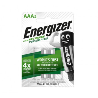 Аккумуляторы Energizer Power Plus AAA 700mAh 2шт по классной цене