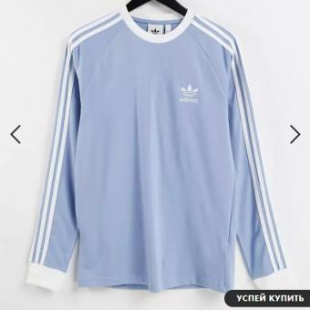 Голубой лонгслив adidas Originals Adicolor по классной цене