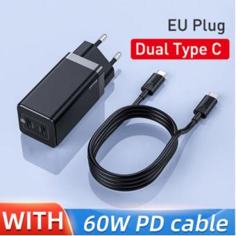 Зарядное устройство Baseus GaN 45W + PD кабель 60W по классной цене