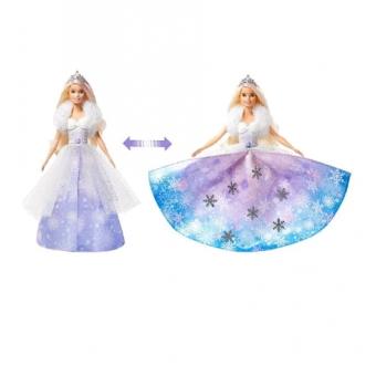 Интерактивная кукла Barbie Снежная принцесса со скидкой