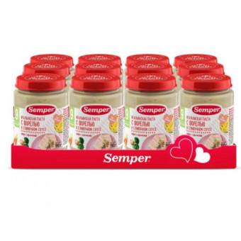 Пюре Semper итальянская паста с форелью в сливочном соусе, 190 г, 12 шт по отличной цене