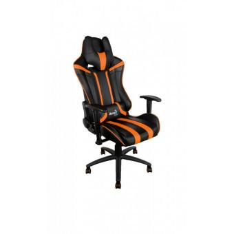Игровое компьютерное кресло AeroCool AC120 AIR RGB чёрный/оранжевый по интересной цене