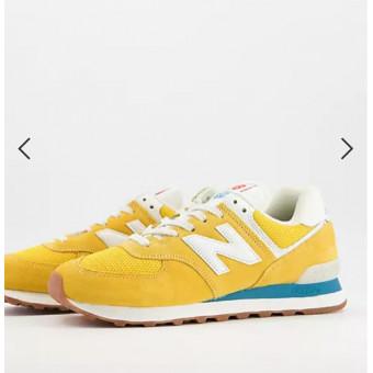 Классный ценник на жёлтые кроссовки New Balance 574