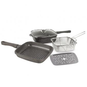 Набор посуды EUROSTEK Мультишеф 5 предметов по хорошей цене