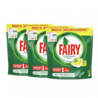 Низкая цена на капсулы для ПММ Fairy Original All in One 252 шт (7₽/шт)