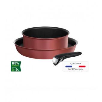 Набор посуды Tefal L6598772 Ingenio Chef Red, 3 предмета по отличной цене