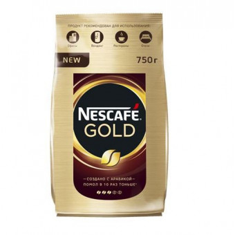 Кофе растворимый NESCAFE GOLD пакет, 750г