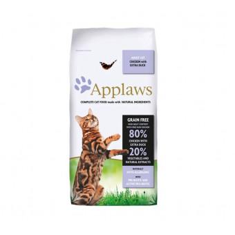 Сухой корм для кошек Applaws беззерновой, с курицей, с уткой 7.5 кг