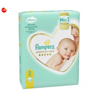 Подгузники Pampers Premium Care 2 (4-8 кг) 66 штук по лучшей цене