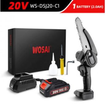 Бесщеточная цепная пила WOSAI 20V WS-DSJ20-C1 MT-Series 6 с аккумулятором по выгодной цене