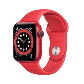 Умные часы Apple Watch Series 6, 40 мм, корпус из алюминия цвета (PRODUCT)RED, спортивный ремешок по выгодной цене