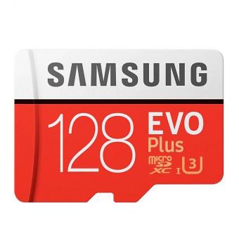 Карта памяти Samsung microSD EVO Plus UHS-I (U3) 128 GB по скидке
