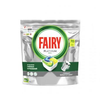 Капсулы для посудомоечной машины Fairy Platinum All in One Лимон, 70 шт по лучшей цене