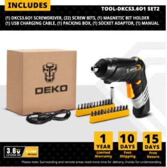 Беспроводная отвертка DEKO DKCS3.6O1 по лучшей цене
