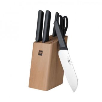 Набор ножей Xiaomi Huo Hou Fire Kitchen Steel Knife Set 6 in1 HU00057 по классной цене