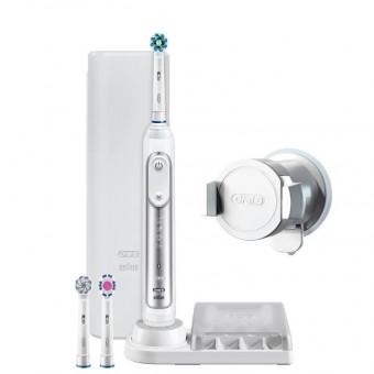 Электрическая зубная щетка Oral-B Genius 8000 в белом цвете по классной скидке
