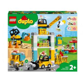 Конструктор LEGO DUPLO Town 10933 Башенный кран на стройке по самой низкой цене