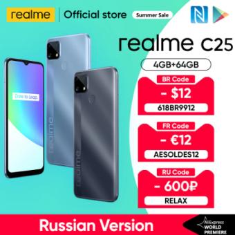 Смартфон Realme C25 4/64 Гб по низкой стоимости