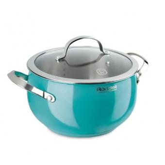 Кастрюля Rondell Turquoise 2,8 л голубая