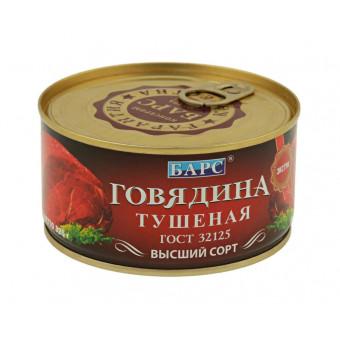 Говядина тушеная БАРС Экстра ГОСТ, высший сорт, 325 г по крутой цене