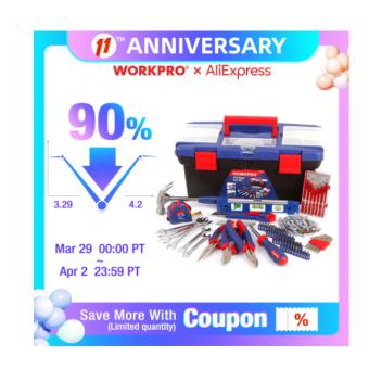 Наборы инструментов WORKPRO на распродаже AliExpress со скидками 90%
