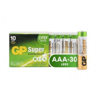 Батарейка GP Super Alkaline AAA 30 шт по низкой цене