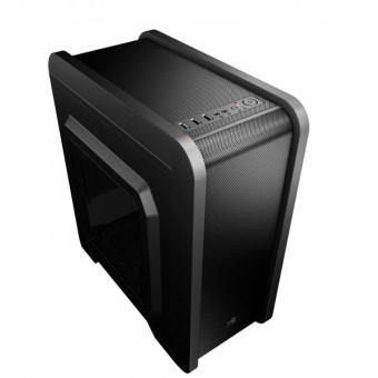 Компьютерный корпус AeroCool Qs-240 в чёрном цвете с промокодом