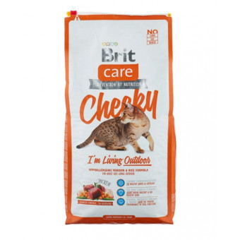 Сухой корм для кошек Brit Care Cheeky для живущих на улице, с олениной и рисом 7 кг по лучшей цене