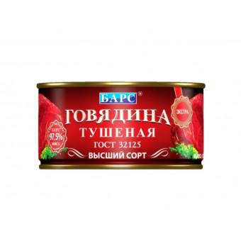 БАРС говядина тушеная экстра ГОСТ, высший сорт, 325 г по крутой цене