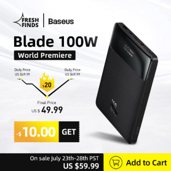 Внешний аккумулятор Baseus Blade по отличной цене