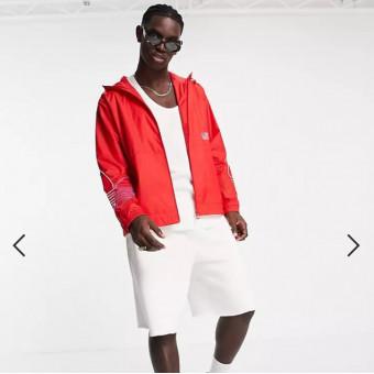 Куртка-ветровка adidas Originals FTO в красном цвете по скидке