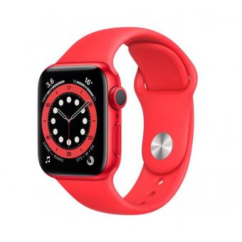 Часы Apple Watch Series 6 GPS 40мм корпус из алюминия красный + ремешок красный (M00A3RU/A) по отличной цене