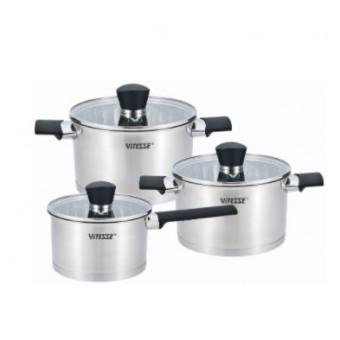 Набор посуды VITESSE Dorian VS-2084, 6 предметов по выгодной цене
