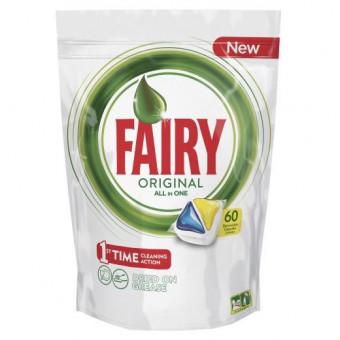 Капсулы для посудомоечных машин Fairy Original All in One, 60 шт (81670423) по крутой цене