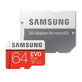 Карта памяти Samsung microSD EVO Plus UHS-I (U3) 64 GB по самой низкой цене