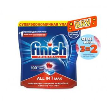 По отличной цене таблетки для ПММ FINISH All in1 Max 100 шт при покупке 3 пачек