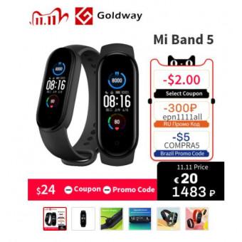 На распродаже 11.11 спортивный браслет Xiaomi Mi Band 5 по суперцене