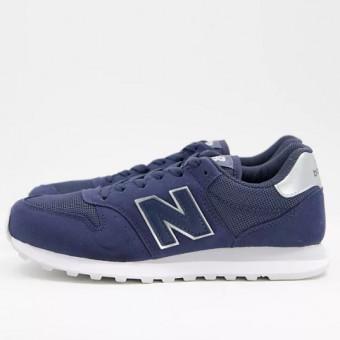 Классические кроссовки New Balance 500 по хорошей цене в тёмно-синем цвете